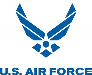 Air Force Logo - Blue, with text